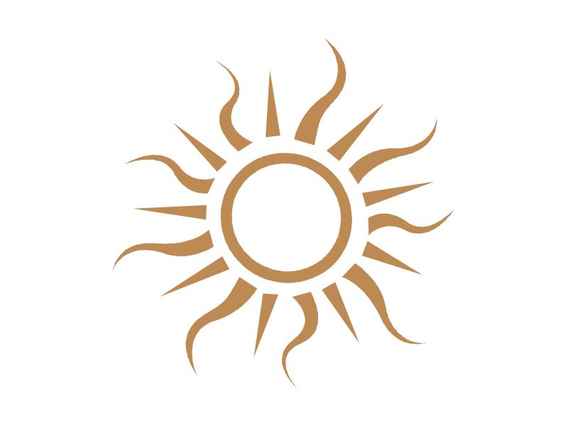 Τραπεζομάντηλα Ήλιος - Λεπτομέρεια