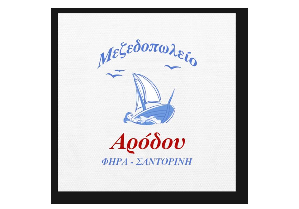 Λευκό τραπεζομάντηλο με εκτύπωση επωνυμίας-σήματος