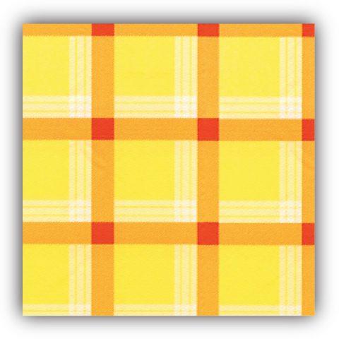 Κίτρινο καρό τραπεζομάντηλο - σειρά 700