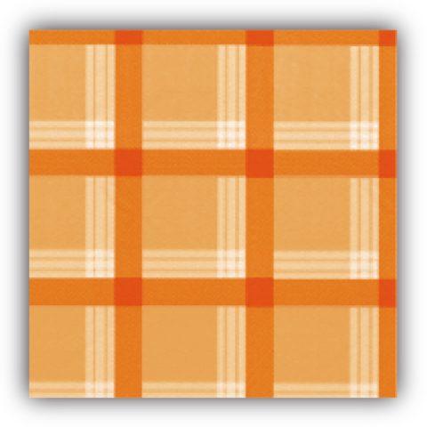 Πορτοκαλί καρό τραπεζομάντηλο - σειρά 700