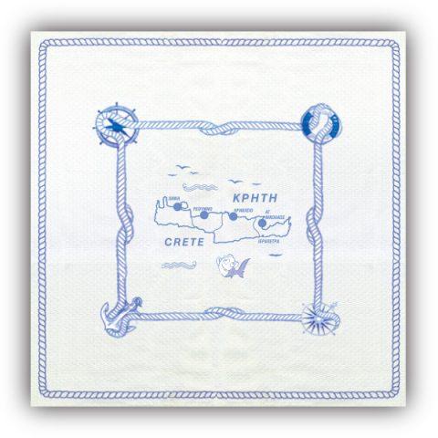 Τραπεζομάντηλο Άγκυρα με Χάρτη