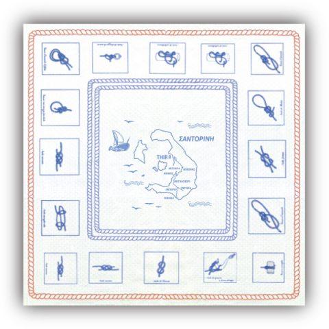 Τραπεζομάντηλο Κόμποι με Χάρτη