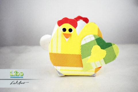 Για τα πασχαλινά αυγά, ένα πασχαλινό καλαθάκι ''κοτούλα'' από χάρτινα τραπεζομάντηλα Libo