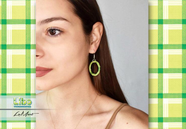 Φτιάξτε πολύχρωμα σκουλαρίκια με τραπεζομάντηλα Libo